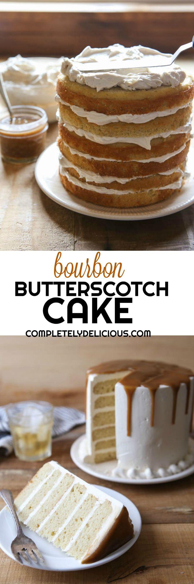 Bourbon Butterscotch Layer Cake