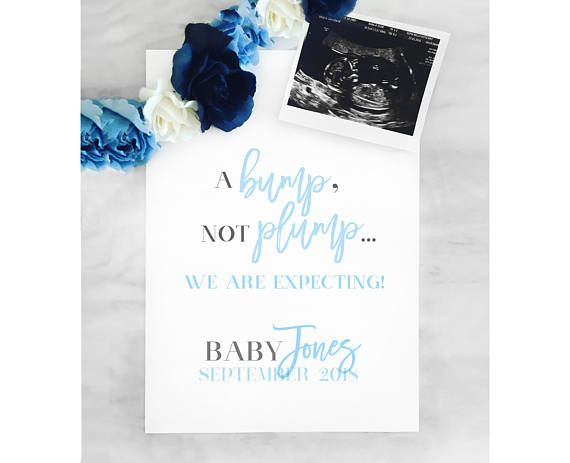 Pregnancy Announcement  Printable Poster  Pregnancy Reveal