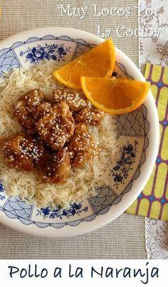 Pollo a la Naranja al Estilo Chino: Bocados de pollo marinados que se rebozan y se bañan en una deliciosa salsa de naranja. Les encantará a los aficionados a la cocina asiática.