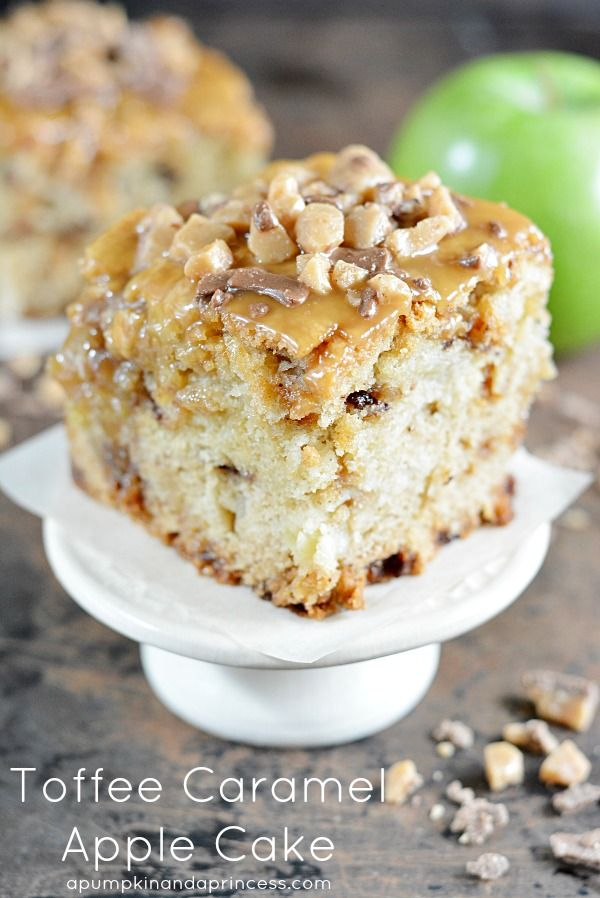 Toffee Caramel Apple Cake (1) From:Pumpkin And A Princess, please visit