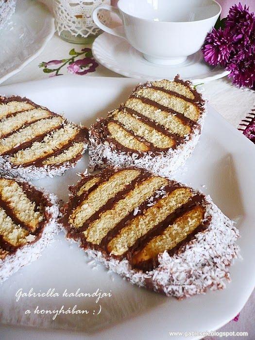 Csíkos csokis süti - sütés nélkül
