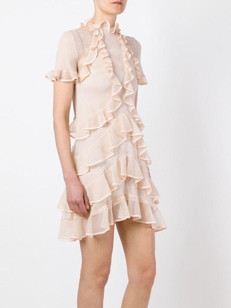 Alexander McQueen мини-платье с рюшами