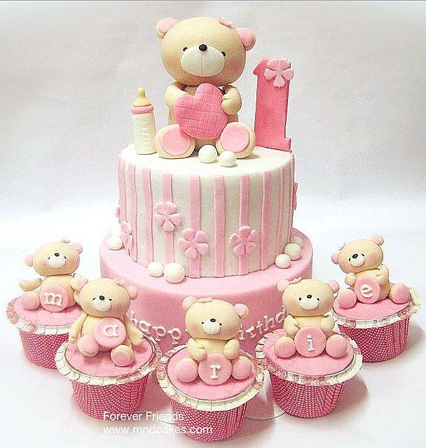 Cakes & Cupcakes: Bolo de ursinhos comemoração de 1 anhinho