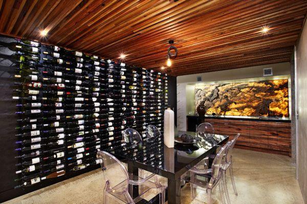 holz decke Weinkeller und Lagerung idee