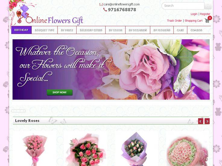 screenshot of www.onlineflowersgift.com/