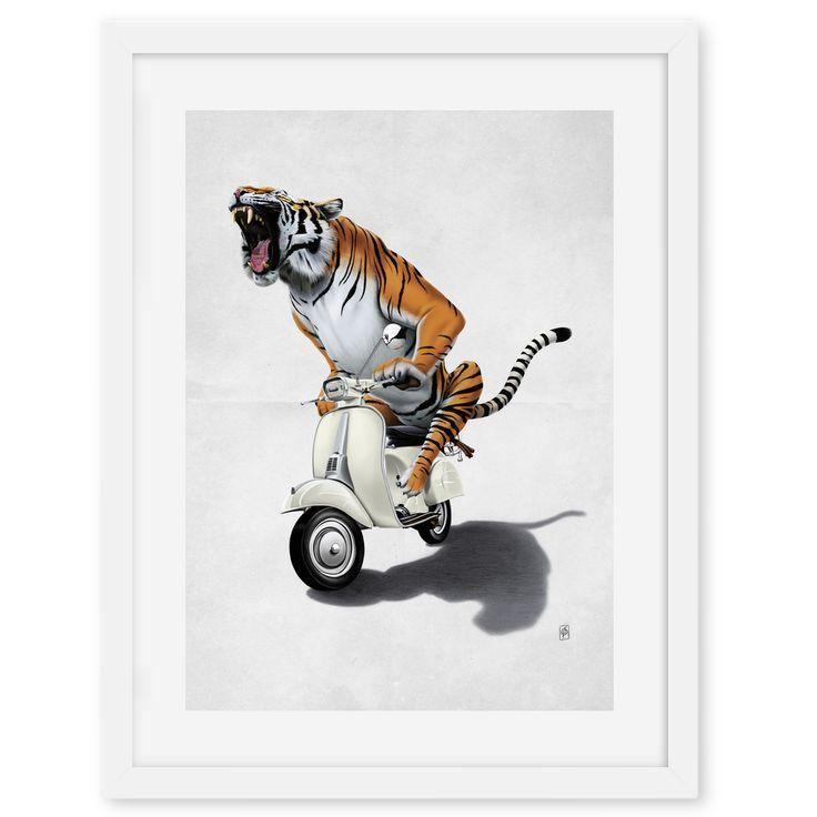 Rooooaaar! (Wordless) art | decor | wall art | inspiration | animals | home decor | idea | humor | gifts