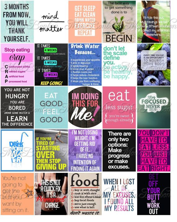 Fitness and Diet Motivation Stickers for Life Planners and ...