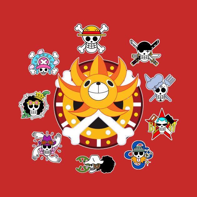 One Piece The Strawhat Pirates One Piece T Shirt Teepublic Fr In 2021 Manga Anime One Piece One Piece Anime One Piece Logo