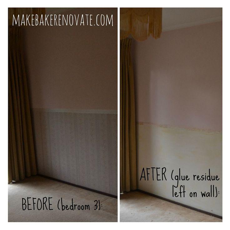 The messy job of wallpaper removal   MakeBakeRenovate.com