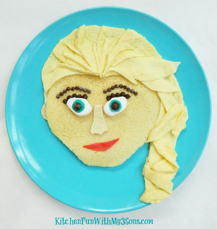 Disney Frozen Elsa Pancakes for Breakfast from KitchenFunWithMy3Sons.com