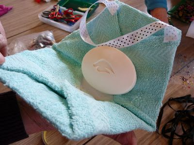 At our latest meeting of our Operation Christmas Child Shoebox Craft Group, we were given a new idea for making a creative gift out of soap...
