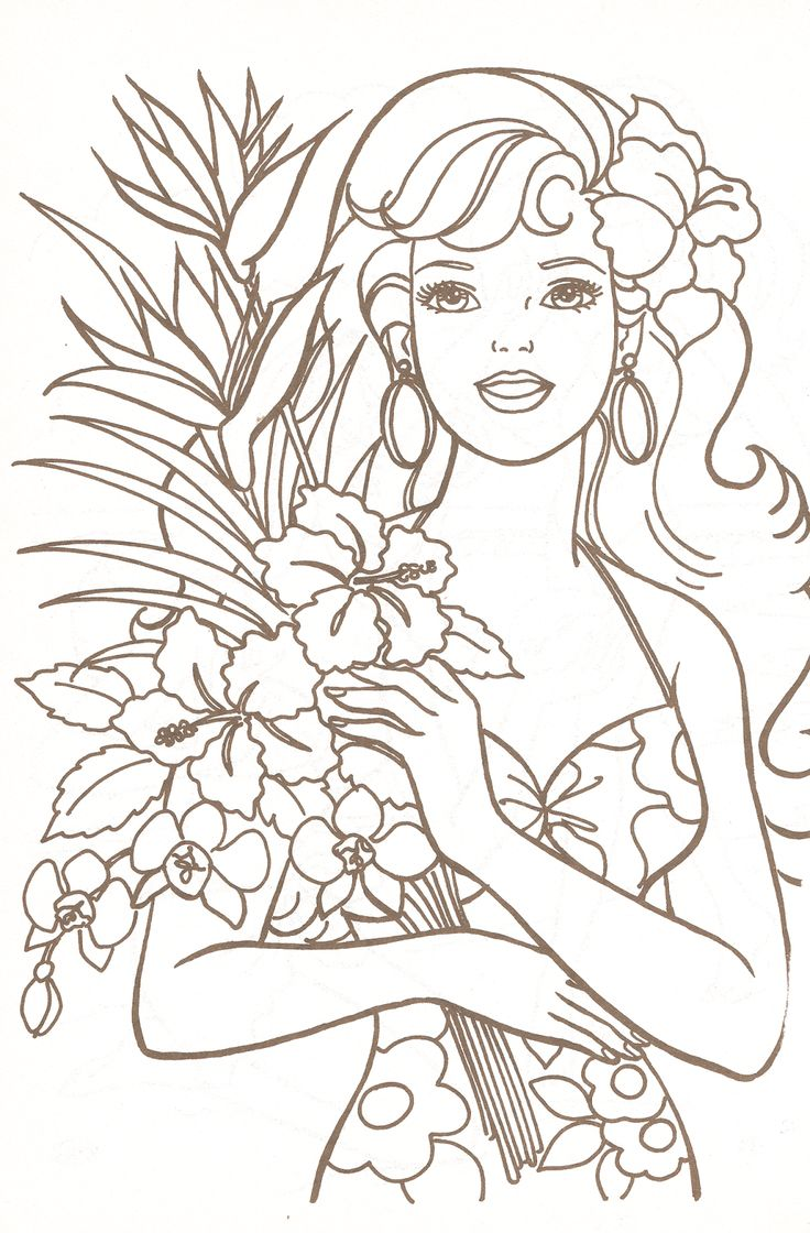 205 Best Barbie Images On Pinterest Barbie Coloring Pages