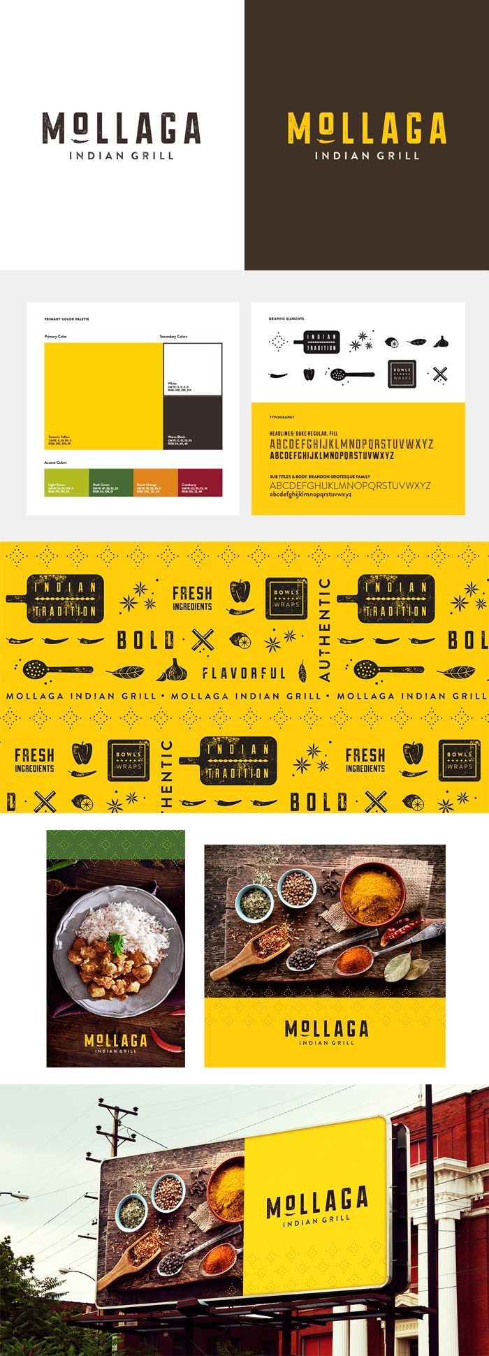 identity / mollaga / food / restaurant logo branding