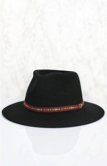 Fallen Broken Street The Dingo Hat - Flower Band Black | Beginning Boutique shop new @ www.bb.com.au/new #BBFEST #BEGINNINGBOUTIQUE