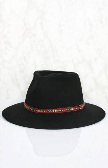 Fallen Broken Street The Dingo Hat - Flower Band Black | Beginning Boutique shop new @ www.bb.com.au/new