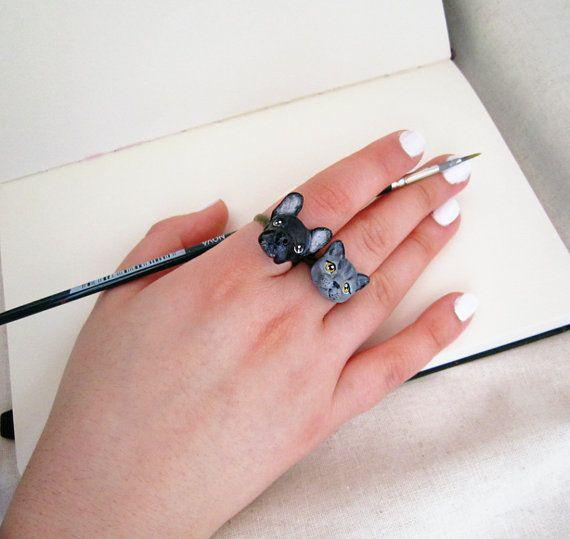 Custom pet portrait ring. by FlowerLandShop on Etsy