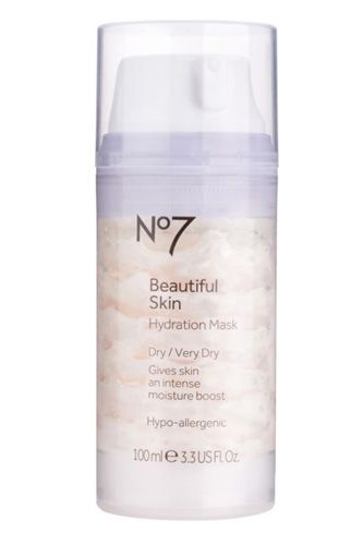 Give scaly skin the heave-ho with this lush mask, which is chock full of emollients like glycerin, cocoa butter, ceramides, and vitamins C & E to target both the surface of skin and the deeper layers underneath. Because a velvety-smooth canvas is so much easier to work with than a scorched-earth complexion.    Boots No7 Beautiful Skin Hydration Mask