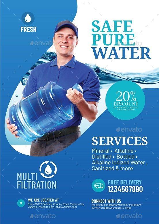 Water Refilling Station Flyer Refilling Water Flyer Station Biz Water Poster Brosure