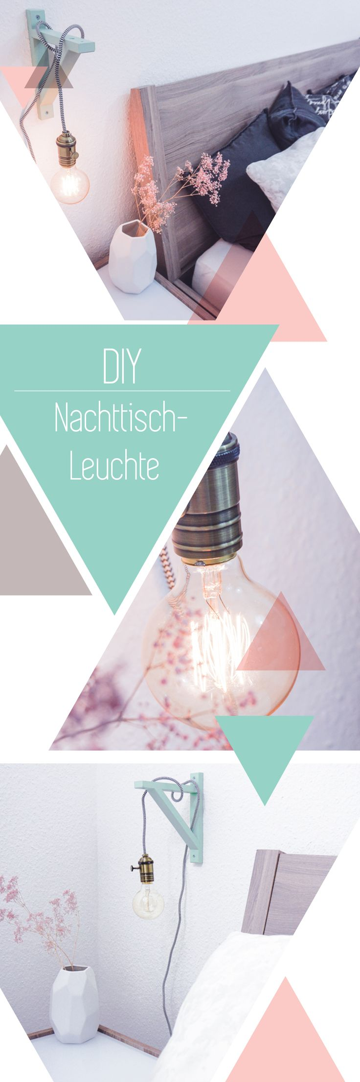 DIY Lampe Mit Holzrahmen, Textilkabel Und Glühbirne U2013 Schönes Licht Im  Vintage Stil