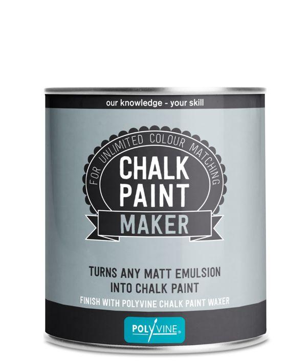 Unique chalk paint maker by Polyvine - turn any matt emulsion into chalk paint.