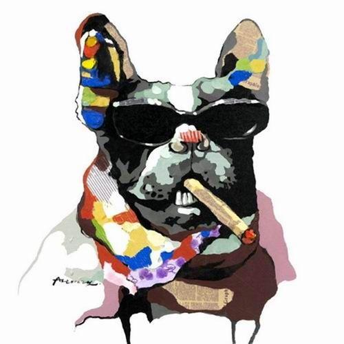 Tableau pop art : le chien qui fume http://www.peintures-sur-toile.com/tableau-pop-art-chien-qui-fume-une-cigarette-xml-243_381-4765.html