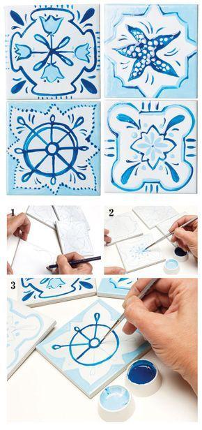 Creative Diy Azulejos - Azulejos fai da te - #diy #homedecor #home #faidate #diydecor #piastrelle