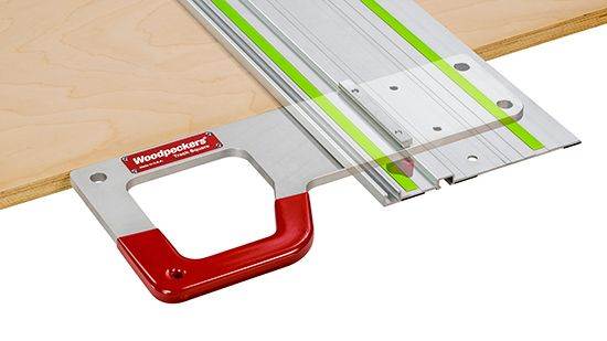 OneTime Tool Track Square - Squaring Your Track Saw Guide Rail Just Got A Whole Lot Easier. As track saw users know, setting the guide rail for a cut that's precisely square requires a series of measurements and marks. With Woodpeckers latest OneTIME Tool, called Track Square, reliable square cuts are quick and easy. It is really just a matter of marking your cut location, positioning the guide rail and sawing. This takes advantage of the T-track slot built in the bottom of Festool guide…