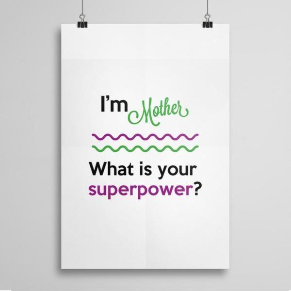 I'm Mother - plakat w artiglo na DaWanda.com
