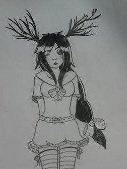 szarvas lány