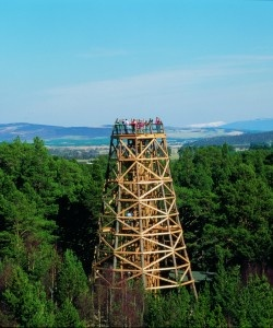 The Fire Tower at the Landmark Adventure Park, Carrbridge, Scotland is just one of the may attractions at this forest park.