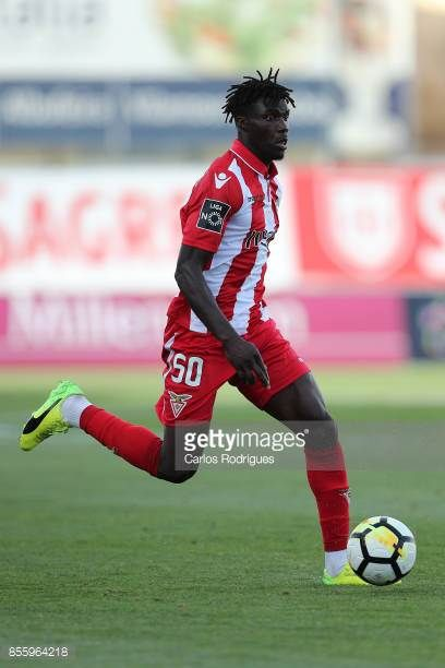 Aves defender Mama Balde from Guine Bissau during the match between Portimonense SC and Deportivo das Aves for the Portuguese League Cup at Portimao...