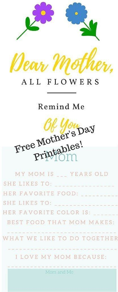 Best 25+ Motheru0027s day printables ideas on Pinterest Mothers day - mothers day card template