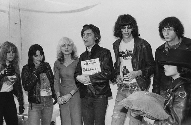 some runaways, a blondie, a doll and a ramone