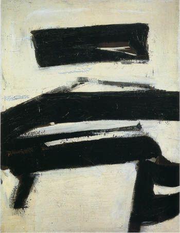 Franz Kline - black and white, 1951