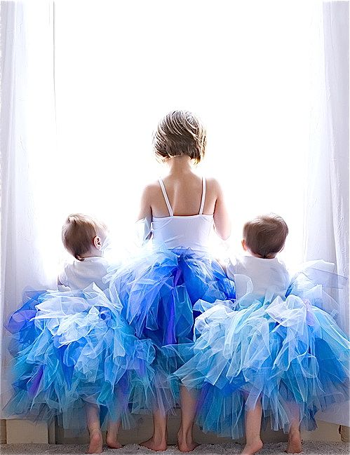 """a new Wedding trend...  """"tutu's""""..just a bit over the top..but...think about it..doesn't have to be BLUE...think silver,white/beige/white..its edgy..its also very sweet..for 2nd wedding"""
