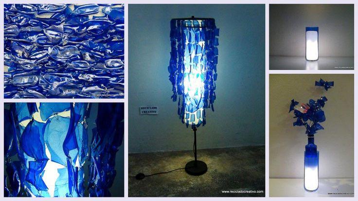 Lámparas con botellas recicladas Abogado Amigo