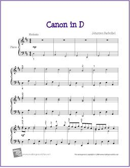 Canon in D (Pachelbel) | Free Sheet Music for Piano - http://makingmusicfun.net/htm/f_printit_free_printable_sheet_music/canon-in-d.htm (Scheduled via TrafficWonker.com)