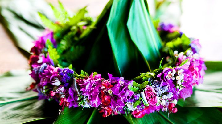 "A strand of colorful flowers is given to every new Hawaii visitor with a gracious ""aloha."" The lei, admired for its floral and fragrant beauty, is the quintessential Island gift. History has it that the creation of lei can be traced back to the Polynesians who first settled in Hawaii. These settlers used available resources,..."