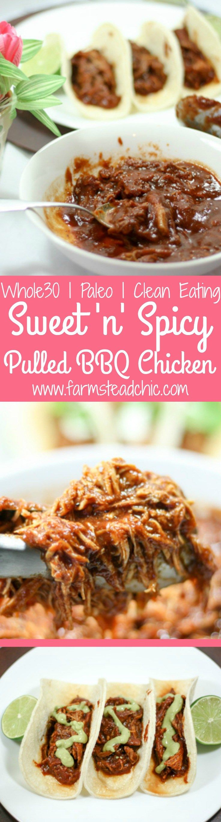 This Paleo and Whole30 Slow Cooker Pulled Barbecue Chicken is legit. It's full of flavor, super-simple to make + easy on the budget.Gluten-free, dairy-free.