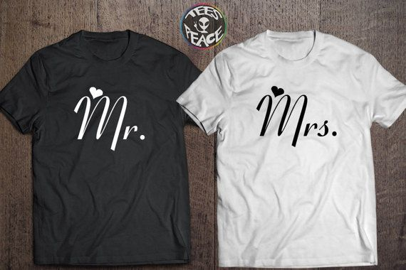 Mr and Mrs shirts, Mr and Mrs tshirts, Bride and Groom Couples set, Mr and Mrs matching shirts, Hubby Wifey tees, Mr and Mrs sign tshirts