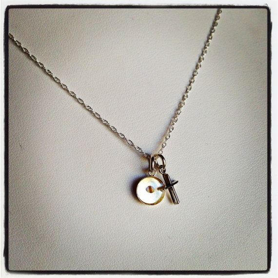 Faith the Size of a Mustard Seed Sterling Silver Mini Cross and Small Mustard Seed Resin Pendant CHARM Necklace