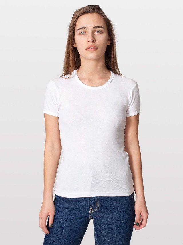 【ベビーリブベーシックショートスリーブTシャツ】アメリカンアパレルが始まった当初からある商品のひとつで、現在も…