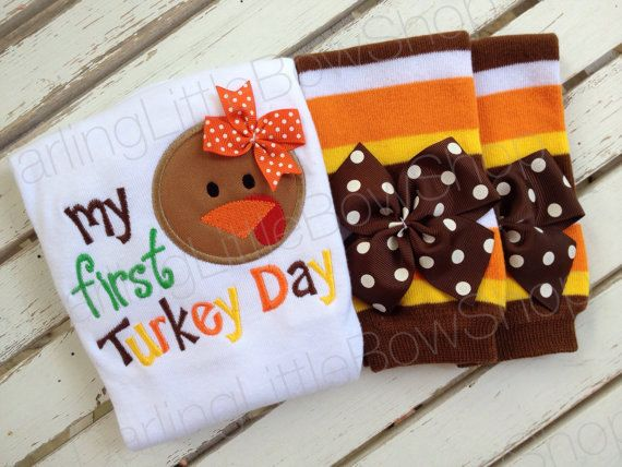 Baby Girl Thanksgiving Bodysuit My First by DarlingLittleBowShop