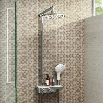 220mm Thermostatic Round Mixer Shower & Handheld [PT-SP5100] - £159.99 : Platinum Taps & Bathrooms