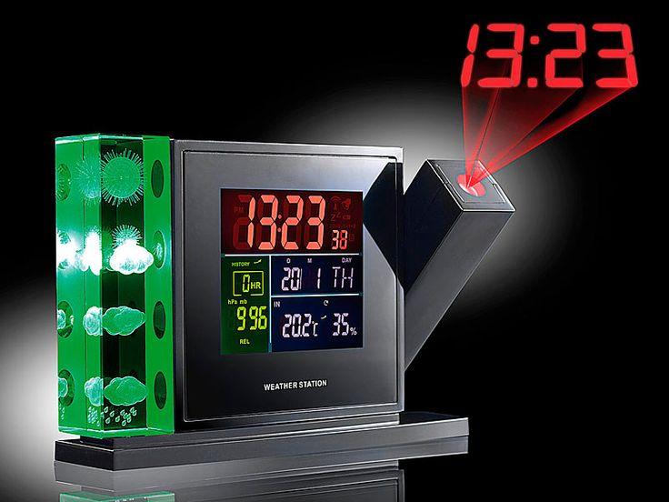 infactory 3D Wetterstation mit Hologramm, Projektion & Außensensor