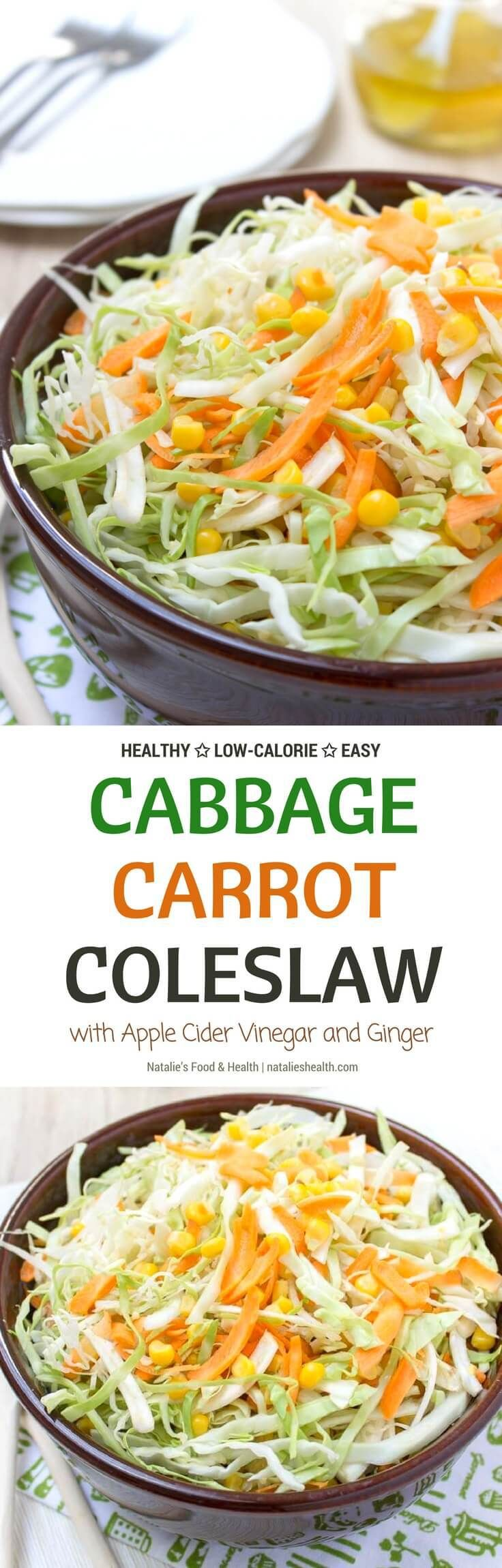 Cabbage Carrot Slaw made with FRESH veggies - gree…