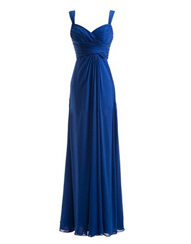 $55 Angelshow Women's Chiffon Spaghetti Straps Ruffles Long Bridesmaid Dresses Small Royal Blue Angelshow http://www.amazon.com/dp/B00PS8XFR4/ref=cm_sw_r_pi_dp_VW-Fub0SKX45C