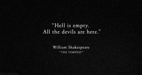One of my favorite Shakespeare quotes