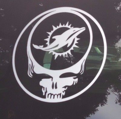 Dolphinsgrateful dead decaldie cut vinyl stickersteal your face