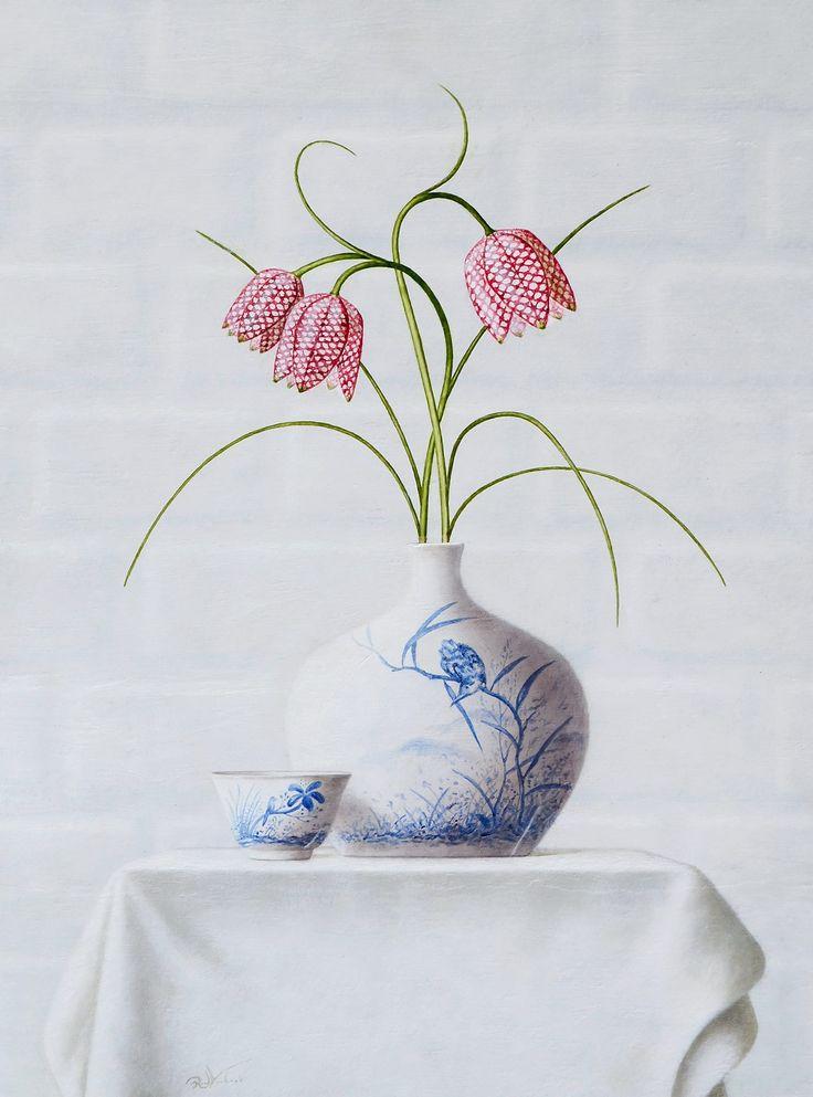 Ruud Verkerk- Kievitsbloemen - painting